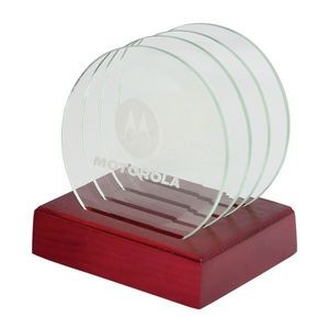 Glass Coaster Set