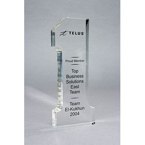"Lucite Acrylic Number One Award (7½""x3""x1"")"